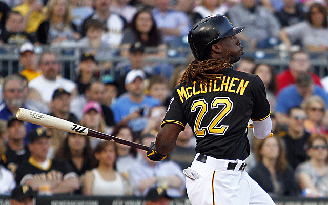 McCutchen homers off the Nationals Friday night.