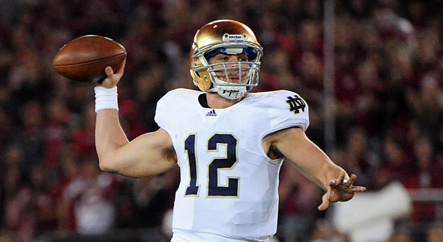 Former Notre Dame quarterback Andrew Hendrix is now at Miami (Ohio). (USATSI)