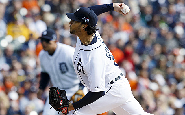Anibal Sanchez's Monday was pretty rough, thanks to the mighty A's offense.