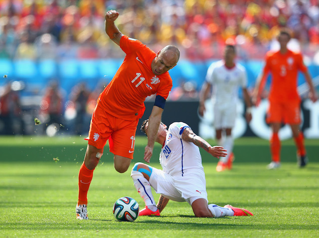 Arjen Robben was the catalyst for the Netherlands attack on Monday. (Getty Images)