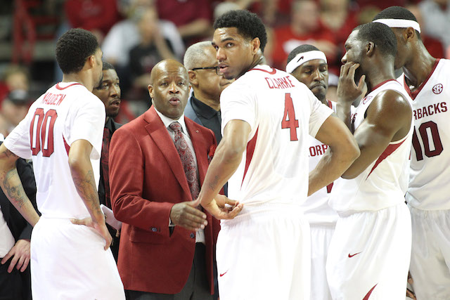 Arkansas moved close to securing an NCAA tournament bid with its sweep of Kentucky. (USATSI)