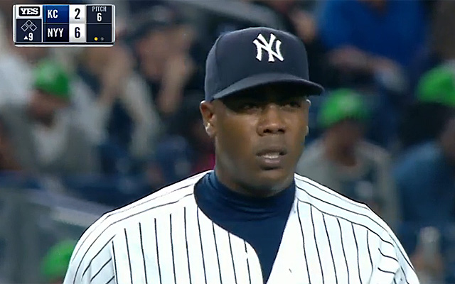 Chapman made his Yankees debut on Monday.