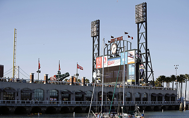 The beautiful AT&T Park, as viewed from McCovey Cove.