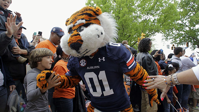 Auburn begins the run of SEC teams in the second round. (USATSI)