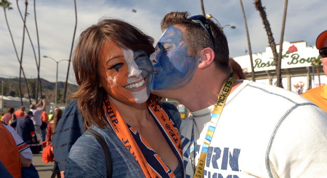 Auburn fans getting ready for the BCS Championship Game. (USATSI)