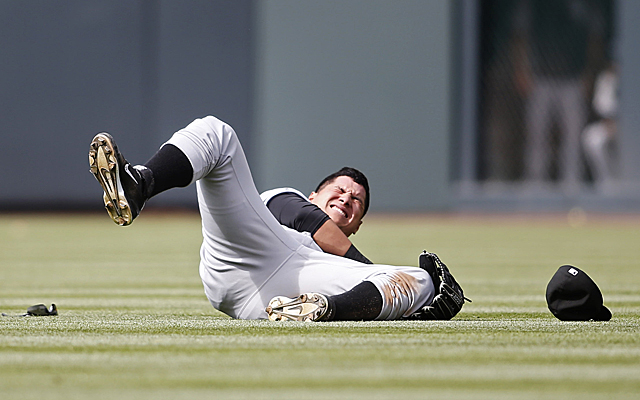 This play marked the conclusion of Avisail Garcia's 2014 season.