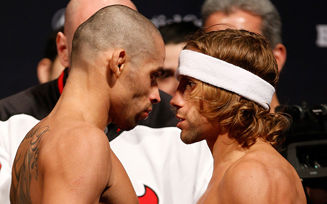 Renan Barao defends his UFC bantamweight title against Urijah Faber this Saturday (Getty)