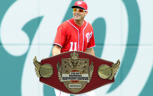 Ryan Zimmerman, sporting his new, over-sized belt.