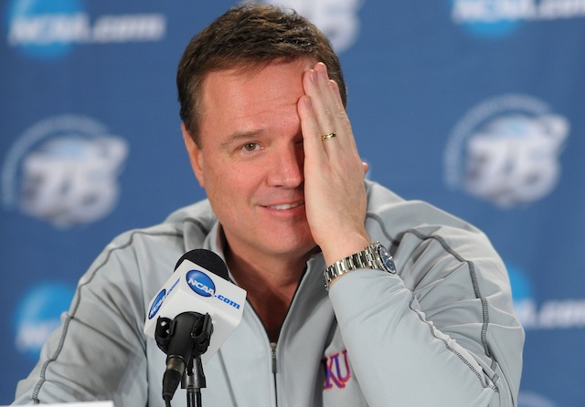 After getting Andrew Wiggins and Tarik Black, it might be hard for Bill Self to hide his smile. (USATSI)