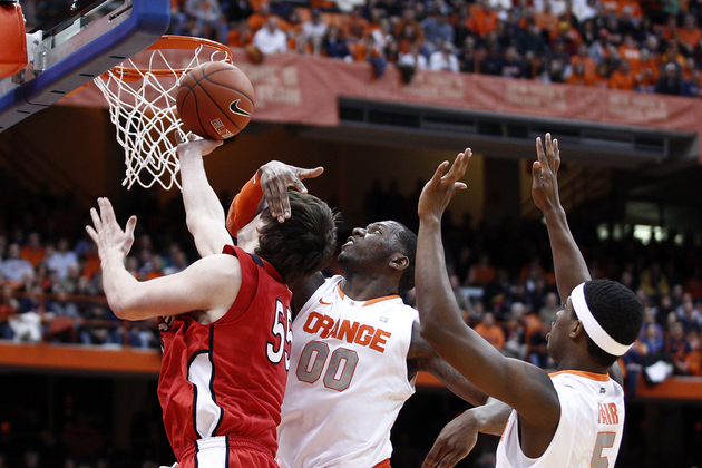 Rick Jackson had 7 blocks vs. Rutgers. This is not one of them.