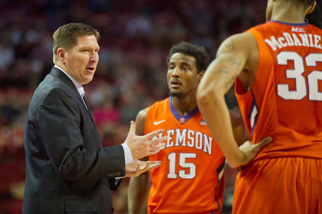 Brad Brownell is now 62-49 in four seasons at Clemson. (USATSI)
