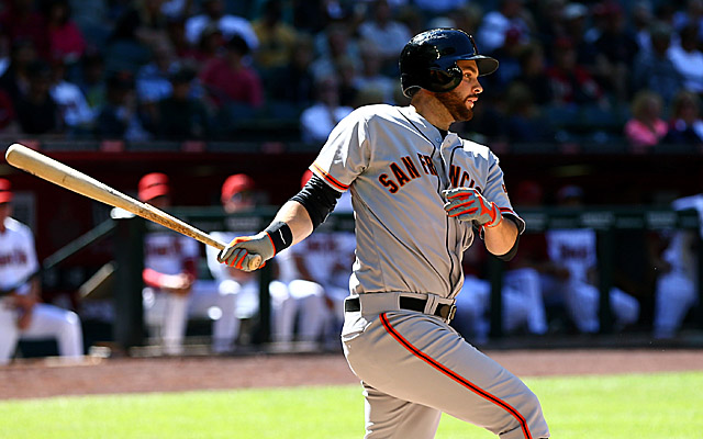 Brandon Belt's bat is back in the San Francisco lineup, albeit in an unfamiliar spot.