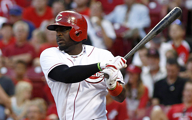 Brandon Phillips had to leave Wednesday night's game with a thumb injury.
