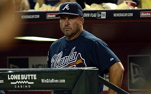 Fredi Gonzalez's Braves haven't been playing well, but they're still in first.