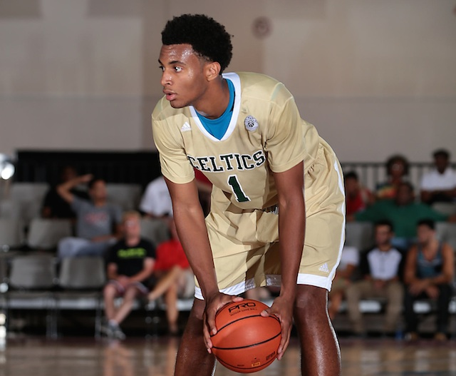 Despite standing 6-foot-8, Braxton Blackwell was one of the top assist men at the Adidas Super 64. (Adidas)