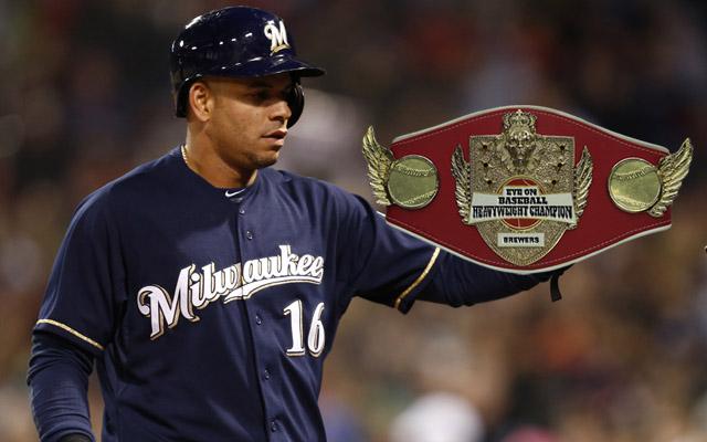 Aramis Ramirez hoists the prestigious belt in Boston.