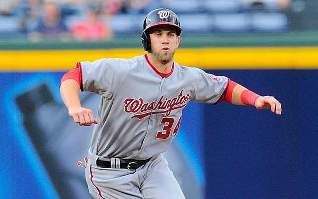 Harper had to leave Washington's game Wednesday night.
