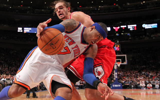 Joakim Noah and Carmelo Anthony are reportedly buddies.  (USATSI)