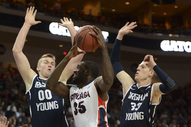 Gonzaga knocked off BYU in the WCC title game -- and now the Cougars have to sit and wait. (USATSI)