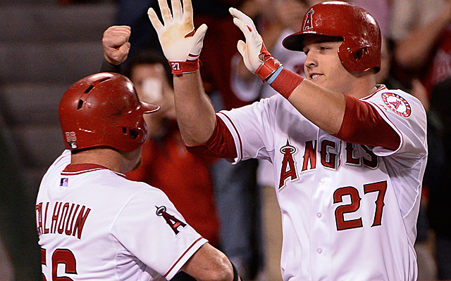 Kole Calhoun is back, and with that the Angels have given Mike Trout a day of rest.