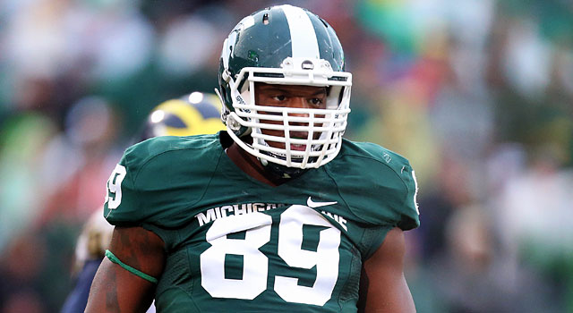 Shilique Calhoun is back after earning Big Ten defensive lineman of the year honors. (USATSI)