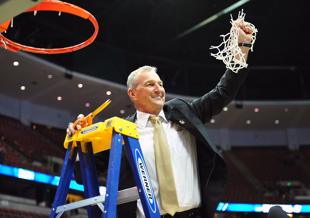 Jim Calhoun loves to cut down nets in the West