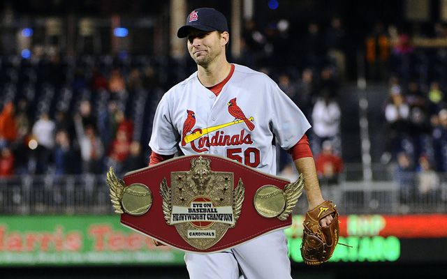 Adam Wainwright takes his turn wearing the prestigious EOB title.