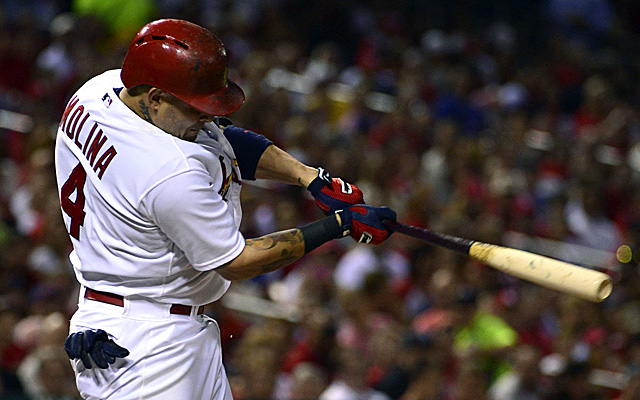 Yadier Molina got things started Friday with a two-RBI double in the first inning.