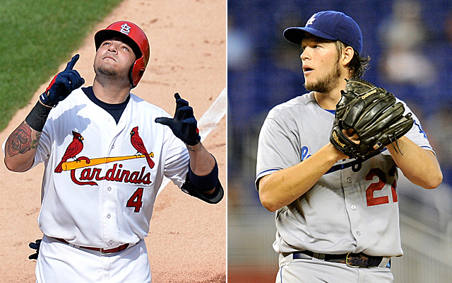 It's Yadier Molina and the Cardinals versus Clayton Kershaw and the Dodgers in the NLCS. (USATSI)