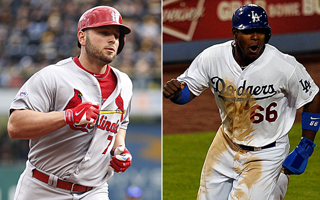 Matt Holliday and the Cardinals will butt heads with Yasiel Puig in the Dodgers in Game 1 of the NLCS. (USATSI)
