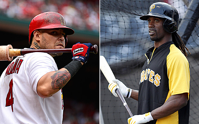 MVP candidates Yadier Molina and Andrew McCutchen are set to square off Thursday.
