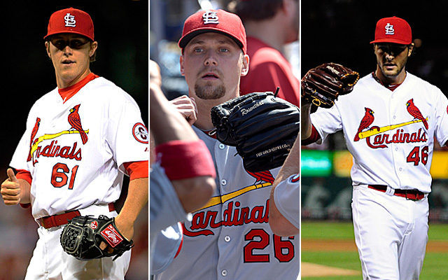 Maness (left), Rosenthal (center) and Siegrist have been stellar for the Cardinals this season.