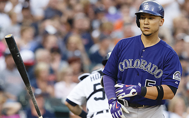 Carlos Gonzalez's lackluster 2014 season appears to be ending early.