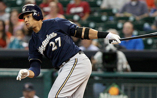 Carlos Gomez's breakout season may be derailed by a shoulder injury.