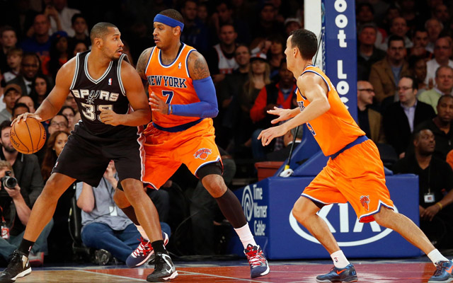 The Knicks' defense was a joke Sunday.  (USATSI)