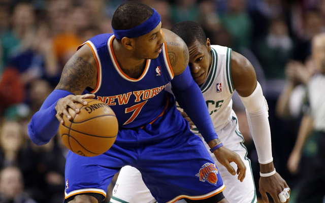 Carmelo Anthony reportedly wants the Knicks to add Rondo.     (USATSI)