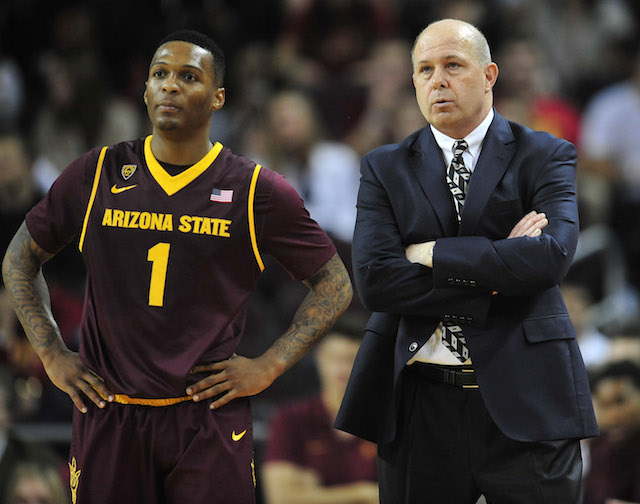 Jahii Carson and Herb Sendek are hoping Arizona State's tough schedule produces quality wins. (USATSI)