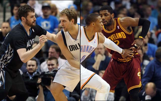 Can Kevin Love and Kyrie Irving step their games up on defense?  (USATSI)