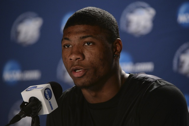 Marcus Smart said he'd be eager to guard Wiggins when their teams play in a few months. (USATSI)