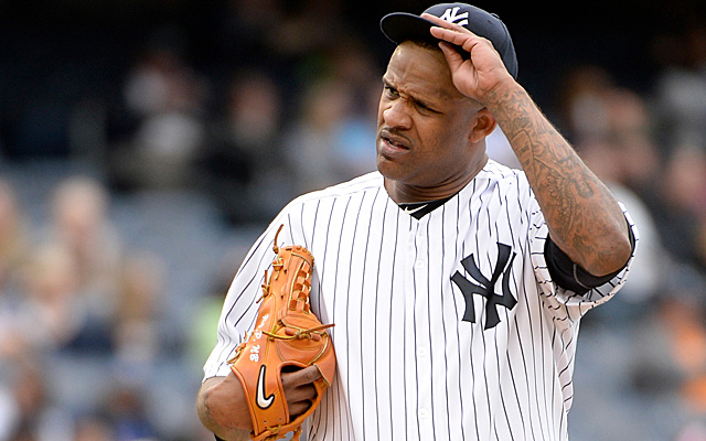 CC Sabathia might be out for the season.