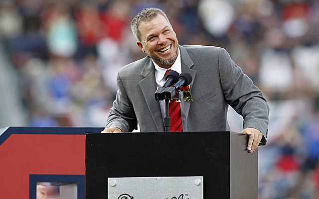 Chipper Jones was the 2012 Marvin Miller Man of the Year.