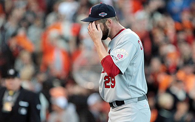 Chris Carpenter has sufferd a setback as he attempts to get back on the mound.