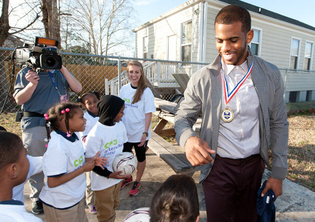 Chris Paul returned to the city he loves, and left this week. (USATSI)