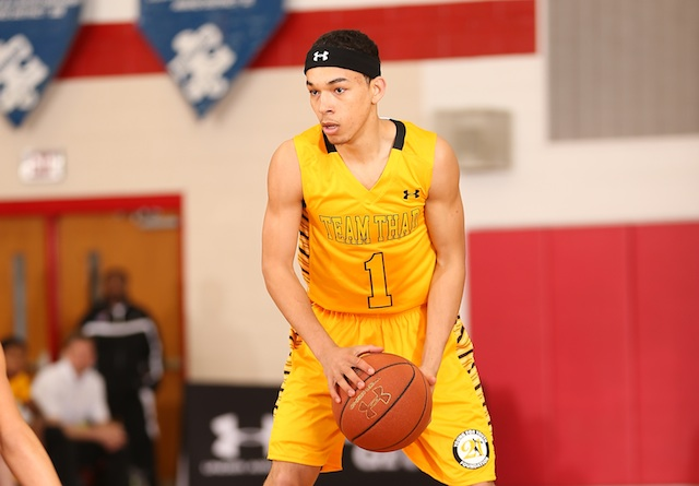 Chris Chiozza was one of the best point guards at the Pittsburgh Jam Fest last weekend. (Kelly Kline/Under Armour)