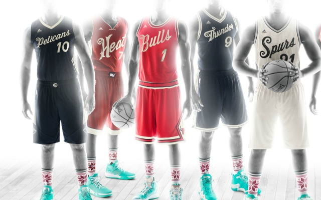 Christmas Jerseys.Photos Nba Unveils Christmas Day Jerseys Socks Cbssports Com