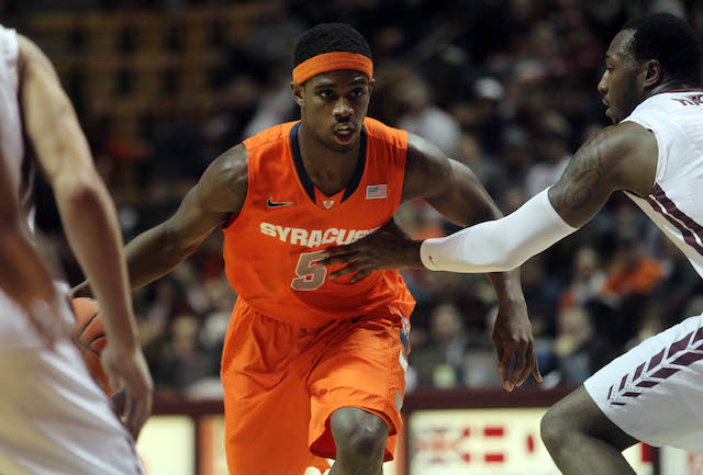 C.J. Fair (16.8 ppg, 5.8 rpg) has been terrific as Syracuse's leader and go-to-guy. (USATSI)