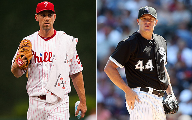 Cliff Lee didn't get moved Tuesday, but Jake Peavy did.