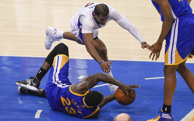 The Clippers and Warriors got into it even after Game 7.  (USATSI)