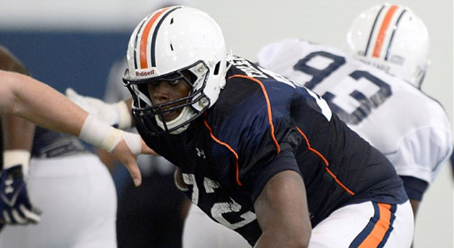 Shon Coleman is vying for the starting left tackle spot at Auburn. (247Sports)