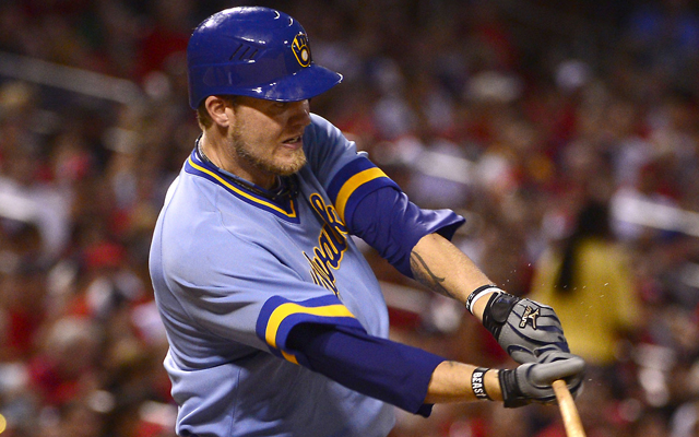 Corey Hart could fill the Brewers' need at first base.